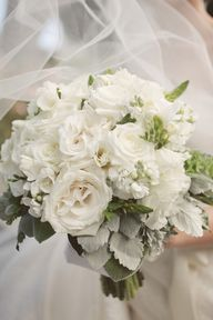 All white bouquet by