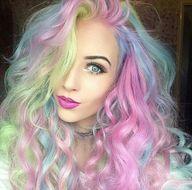rainbow hair | Tumbl