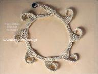 crochet cotton neckl