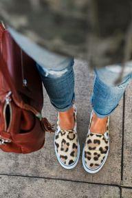 leopard slip on snea