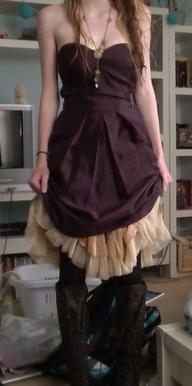 Short steampunk dres