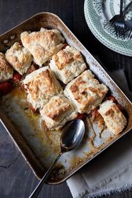 tomato cobbler with
