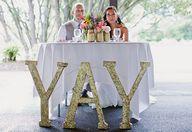Glitter wedding sign
