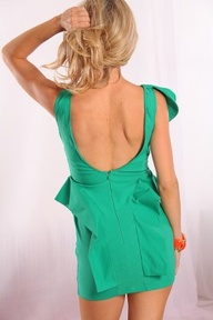 bright green peplum...