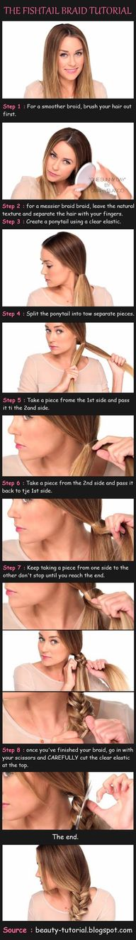 fish-tail braid tuto
