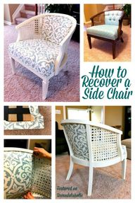Cane Chair Reupholst