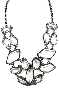 Transparency Statement Necklace via la mode accessories $32.00