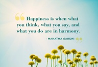 Gandhi on happiness