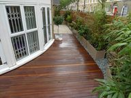 Decking, with rocks,