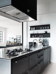 black kitchen...