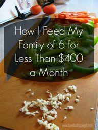 How I feed my family
