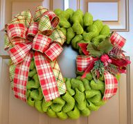 Green Burlap Christm