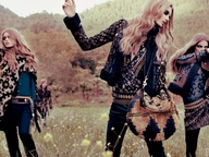 glam rock bohemian. totally wanna try and pull something like this off.