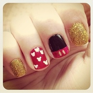 Mickey Mouse nails...