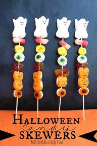 halloween candy skew