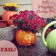 pumpkin flower pot f