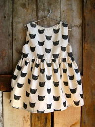 Girls Black Cat Dres
