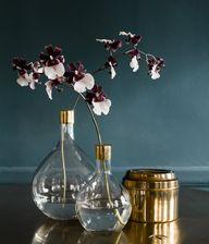 Glass & Brass Vases
