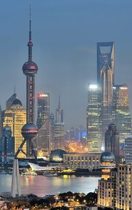 Skyline of Shanghai,