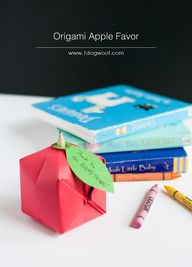 Origami Apple Favor.