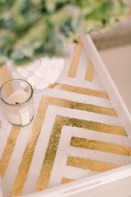 DIY gold tray. Photo