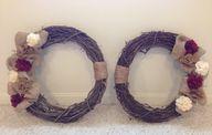 Double door wreaths