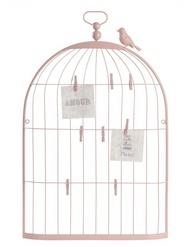 Pêle-mêle Cage oiseau rose, Maisons du Monde, 19,90 €