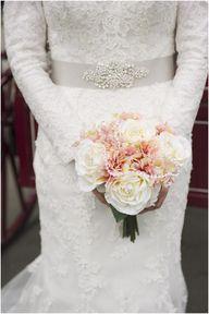 Peach wedding flower