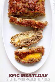 Stuffed Meatloaf wit