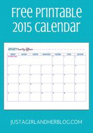 Free 2015 Calendar P