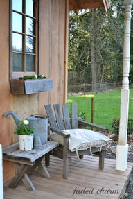 Cozy spring patio. #