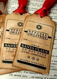 Christmas tags from
