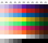 Nice color chart for