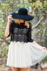 Ana Black Lace Top –
