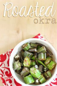 Roasted Okra by @mom