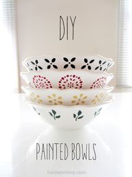 DIY Painted Bowls vi