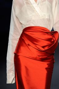 gorgeous red skirt