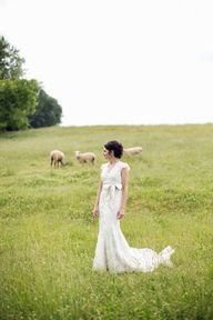 Bride in the sheep p