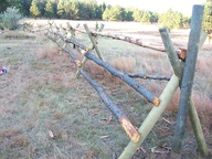 Quick cattle fence....