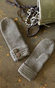 Crochet mittens with
