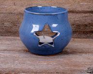 Blue Votive Candle H