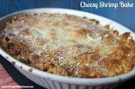 Cheesy Shrimp Bake w