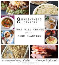 Make-Ahead Recipes