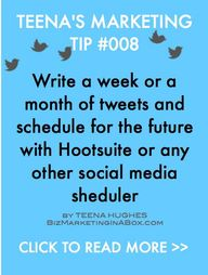 Marketing Tip 008 - Schedule Your Tweets