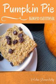 Pumpkin Pie Baked Oa