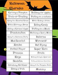 Halloween Charades -