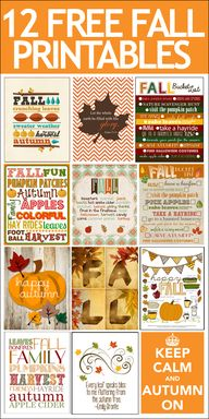 12 FREE Fall Printab