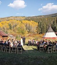 Rustic mountain wedd