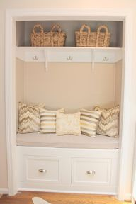 Project Transformation: Hall Closet to Mudroom