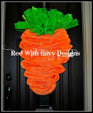 Carrot Wreath for Ea